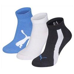 Calzini Sportivi Puma LIFESTYLE (3 Perechi) Azzurro Bianco Blu scuro Bianco/Nero 27-30