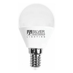 Lampadina LED Sferica Silver Electronics E14 7W Luce calda 3000K