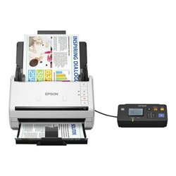 Scanner Fronte Retro Epson DS-530 600 dpi 70 ppm LAN USB 3.0 Bianco