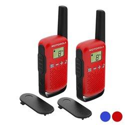 """Walkie-Talkie Motorola T42 Dual 1,3"""" LCD 4 km (2 pcs) Azzurro"""
