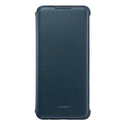 Custodia Folio per Cellulare Huawei Y7 2019 Flip Cover Azzurro
