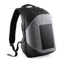 Zaino Antifurto con USB e Scompartimento per Tablet e PC Portatile 146128 Grigio