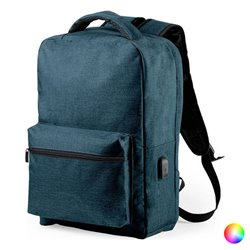 Zaino Antifurto con USB e Scompartimento per Tablet e PC Portatile 146345 Azzurro