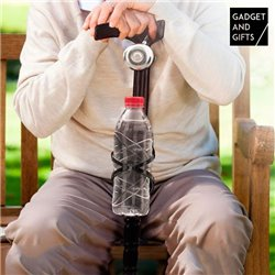 Bastón de Madera con Timbre y Soporte para Botellas Gadget and Gifts