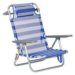 Sedia Pieghevole con Poggiatesta (66 x 59 x 77 cm) Alluminio 119667
