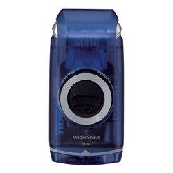 Braun MobileShave M-60b rasoir pour homme Rasoir à grille Bleu, Transparent