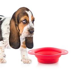 Ciotola Pieghevole per Animali Domestici Heart