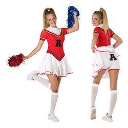 Costume per Bambini 116283 Animatrice Rosso Bianco (Taglia 14-16 ann)