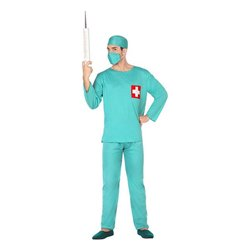 Costume per Adulti 117180 Dottore Verde (3 Pcs) XL