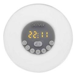 Radio Sveglia Denver Electronics CRLB-400 FM Bluetooth LED Bianco