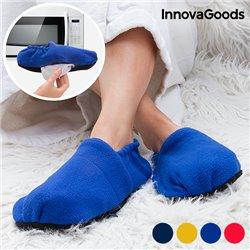 Pantoufles de Maison Chauffables au Micro-ondes InnovaGoods Léopard