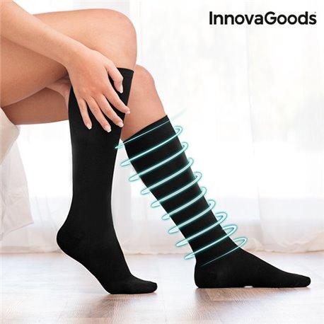 InnovaGoods Anti-fatigue Compression Socks Black