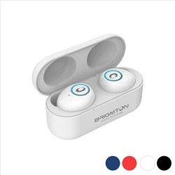 Auricolari Bluetooth con Microfono BRIGMTON BML-16 500 mAh Rosso