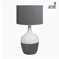 Lámpara de Mesa Blanca Gris by Shine Inline