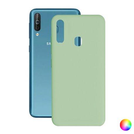 Custodia per Cellulare Samsung Galaxy A40s Silk TPU Azzurro