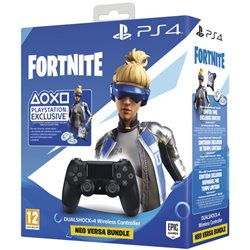 Telecomando Dualshock 4 V2 per Play Station 4 Sony Fortnite 2019 Nero