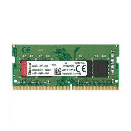 Memoria RAM Kingston 8GB DDR4 2400MHz Module KVR24S17S8/8 8 GB DDR4 2400 MHz SO-DIMM