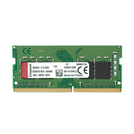 Memoria RAM Kingston 8GB DDR4 2400MHz Module KVR24S17S8/8 8 GB DDR4 2400 MHz SO-DIMM