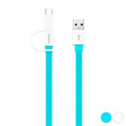 Cavo da USB a Micro USB e USB C Huawei 1,5 m Azzurro