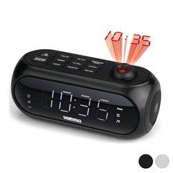 Radiosveglia con proiettore LCD Daewoo DCP-490 180º FM Nero