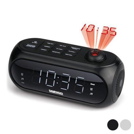 Radiosveglia con proiettore LCD Daewoo DCP-490 180º FM Bianco
