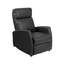 Black Compact Push Back Massaging Recliner Cecotec 6180