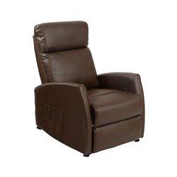 Brown Massaging Push Back Recliner Cecotec 6182