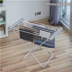 InnovaGoods Elektrischer Wäscheständer in Grau 120W (8 Stangen)