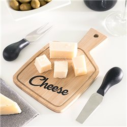 Tagliere per Formaggi & Coltelli da formaggio Bamboo