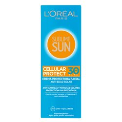Sun Cream Sublime Sun L'Oreal Make Up Spf 30 (75 ml)