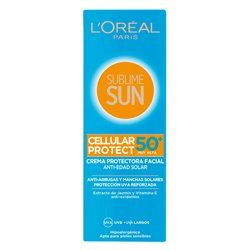 Creme Solar Sublime Sun L'Oreal Make Up Spf 50 (75 ml)
