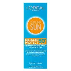 Sun Cream Sublime Sun L'Oreal Make Up Spf 50 (75 ml)