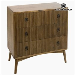 Commode Teck Mdf Marron (82 x 40 x 81,50 cm) - Collection Be Yourself by Craftenwood