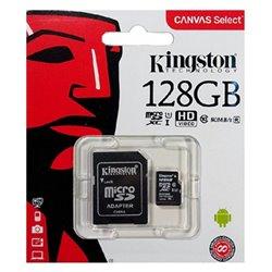 Scheda Di Memoria Micro SD con Adattatore Kingston SDCS2 100 MB/s exFAT 128 GB