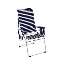 Cadeira de Campismo Acolchoada Azul Branco