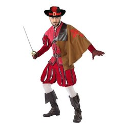Costume per Adulti 113817 Moschettiere Rosso (3 Pcs) M/L