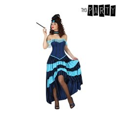 Costume per Adulti Showgirl Azzurro (2 Pcs) XS/S