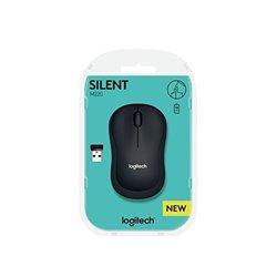 Mouse Ottico Wireless Logitech Silent M220 1000 dpi Nero