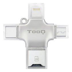 Lettore di Schede Esterno TooQ TQR-4001 Argentato