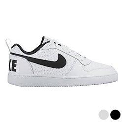 Scarpe Sportive per Bambini Nike COURT BOROUGH LOW (GS) Bianco Nero (Taglia usa) 6,5Y
