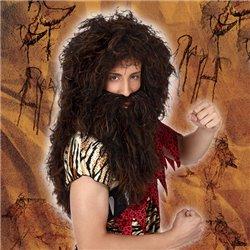 Parrucca con Barba Castano scuro 119560