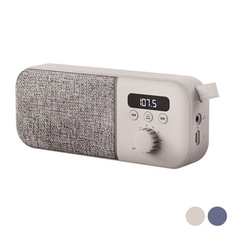 Radio Portatile Digitale Energy Sistem Fabric Box FM 1200 mAh 3W Beige