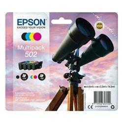 Cartuccia d'Inchiostro Originale (confezione da 4) Epson 502 Multipack 14,5 ml