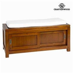 Baule con cassetto e cuscino noce - Serious Line Collezione by Craftenwood