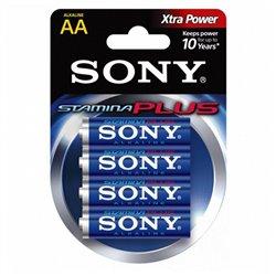 Batteria Alcalina Sony 4+2 AA Stamina Plus AM3-B4X2D 1,5 V AA (4 pcs) Azzurro