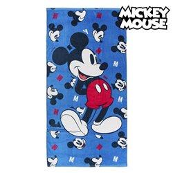 Telo da Mare Mickey Mouse 75491 Cotone Blu marino
