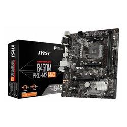MSI B450M PRO-M2 MAX motherboard Socket AM4 Micro ATX AMD B450 911-7B84-17S