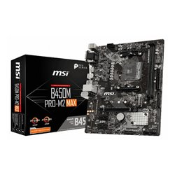 MSI B450M PRO-M2 MAX placa mãe Socket AM4 Micro ATX AMD B450 911-7B84-17S
