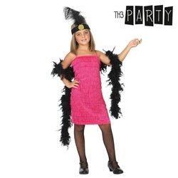 Costume per Bambini Charleston Rosa 3-4 Anni