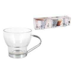 Set di Tazze da Caffè Glassic 175 cc Geam (3 Pcs)